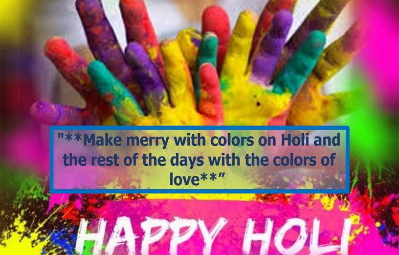 Happly holi image with holi quotes