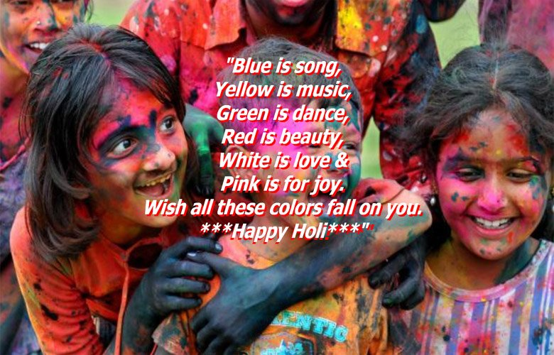 Happy Holi Image with Holi Quotes