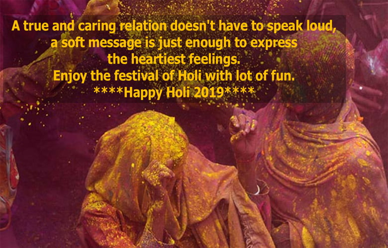 Happy Holi Image with Quotes