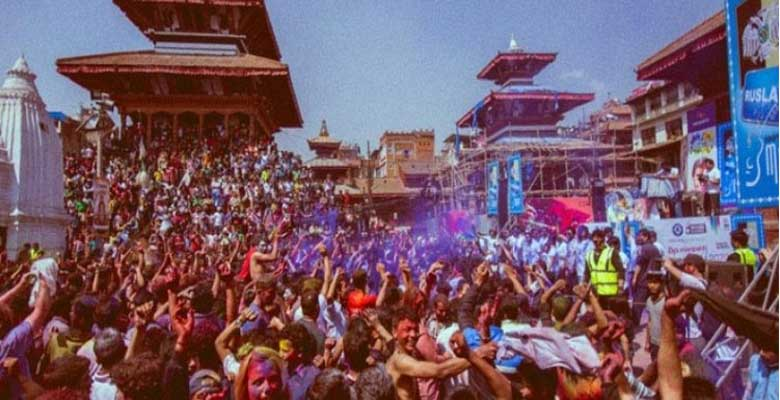 Holi festival Celebration in Nepal