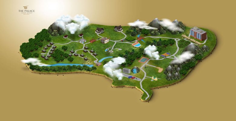 The Palace Luxury Resort Map