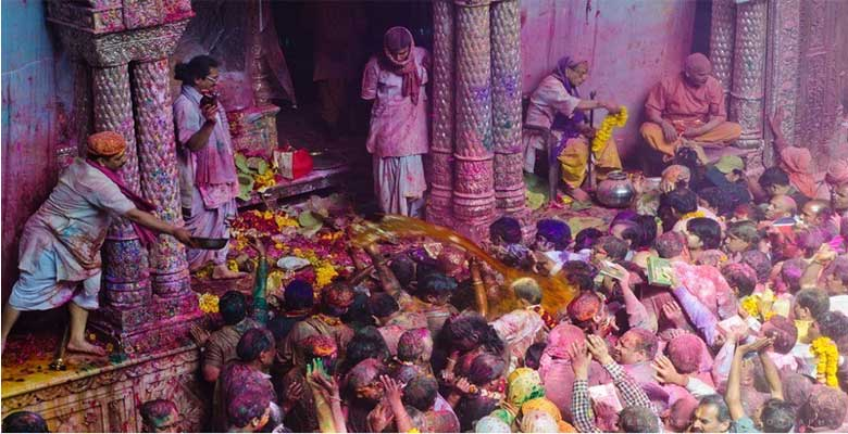 Traditional Holi Celebratio in South India