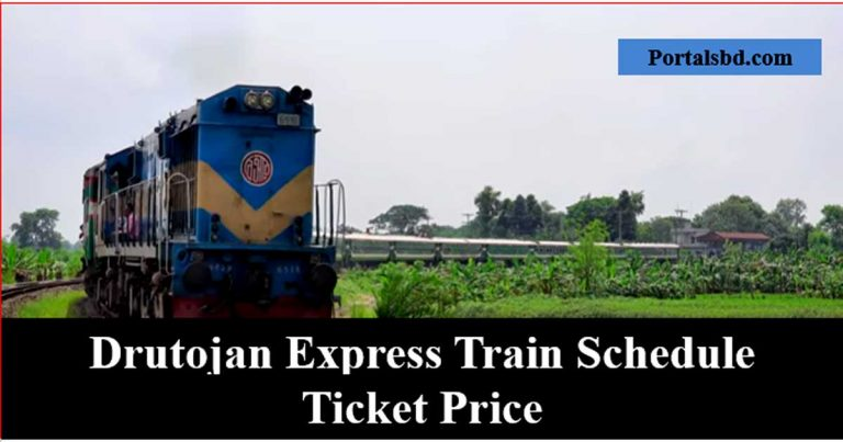 Drutojan Express Train Schedule and Ticket Price