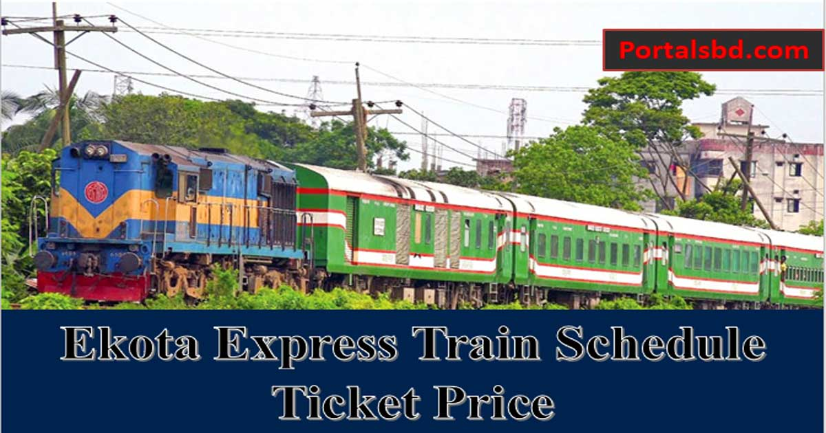 Ekota express train schedule and ticket price