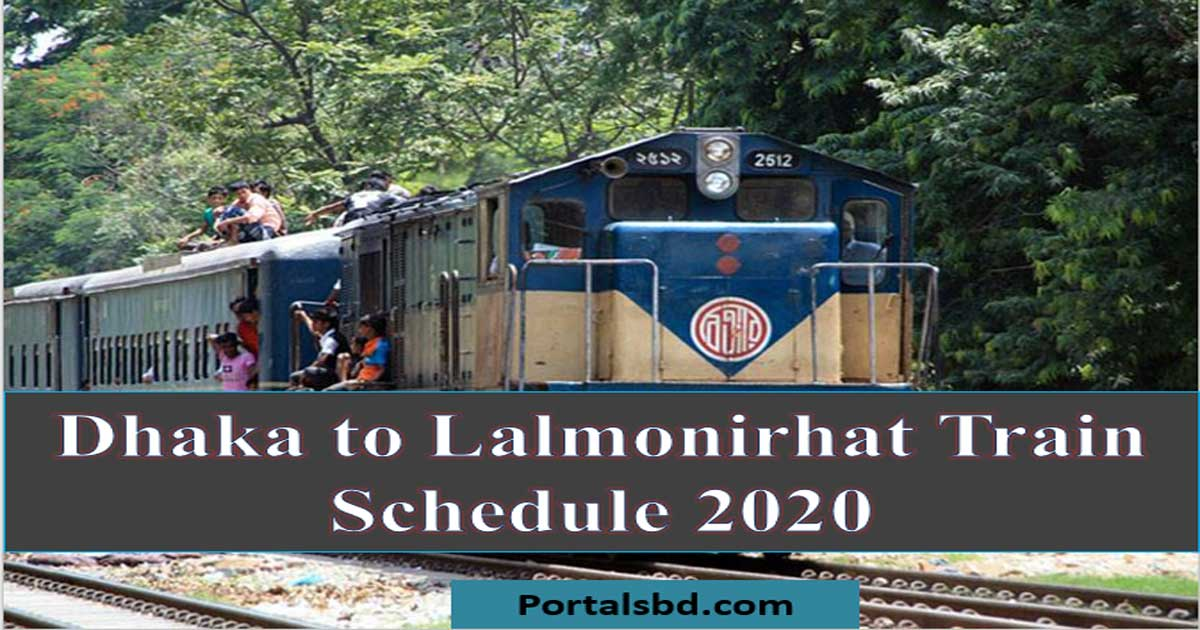 Dhaka to Lalmonirhat Train Schedule 2020 and Ticket Price