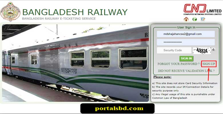 Bangladesh Railway Online Ticket Booking