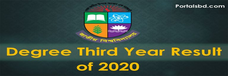 Degree rd Year Result 2020
