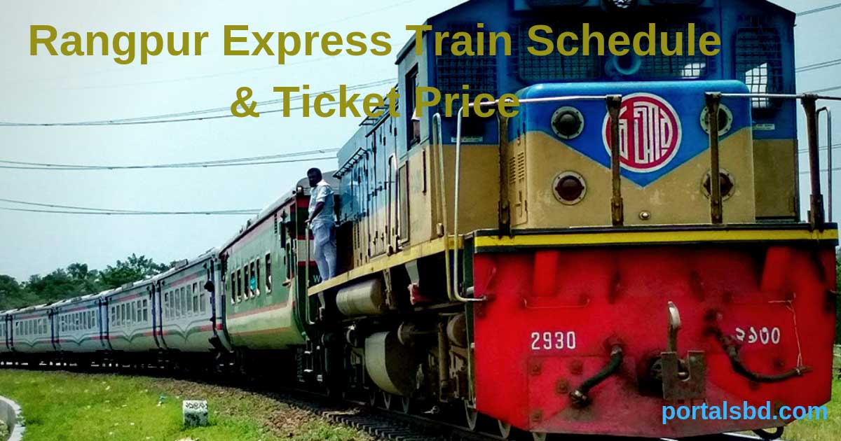 Rangpur Express Train Schedule and Ticket Price