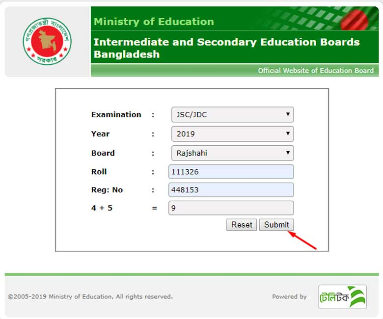 Bangladesh Education Board Result Archive