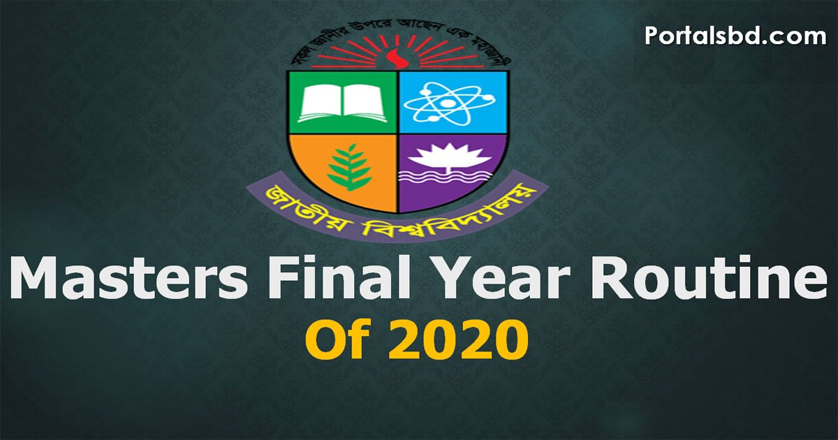 National University Masters Final Year Routine 2020