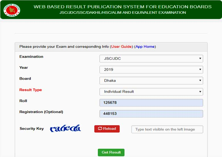 Web Based Result Publicatio System