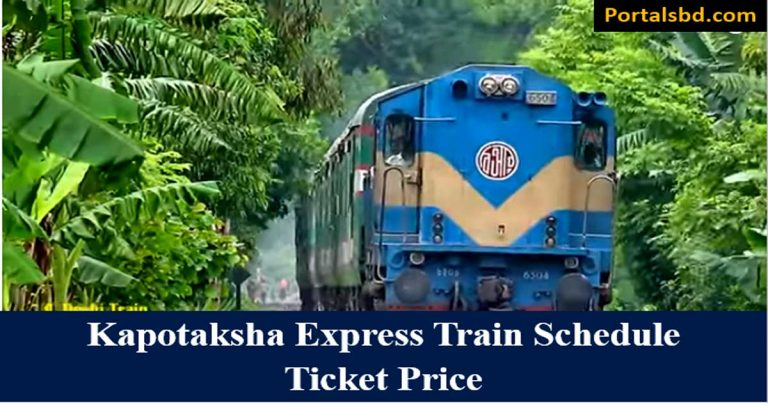 Kapotaksha Express Train Schedule with Ticket Price