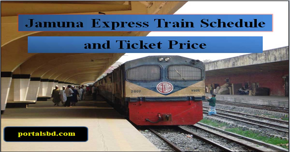 Jamuna Express Train Schedule and Ticket Price