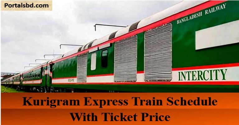 Kurigram Express Train Schedule with Ticket Price